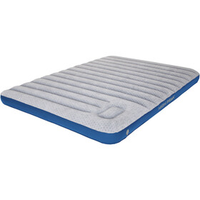 High Peak Cross Beam Double Air Bed Extra Long Light Grey/Blue